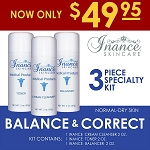 Inance Balance & Correct Specialty Kit (Normal To Dry Skin) Kit # 4 (3 pc kit) MSRP 131.00
