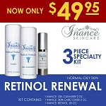 Inance Retinol for Normal to Oily Skin Specialty Kit #10 (3 Pc Kit) MSRP 100.00