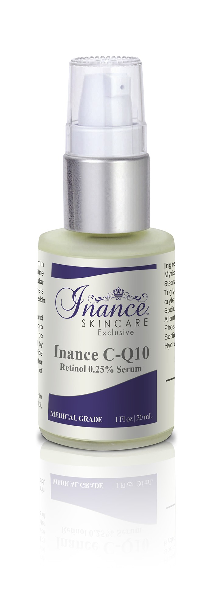 Inance Exclusive C-Q10 Retinol 0.25% (Two and a half percent) Serum with Vitamin C 1 fl oz