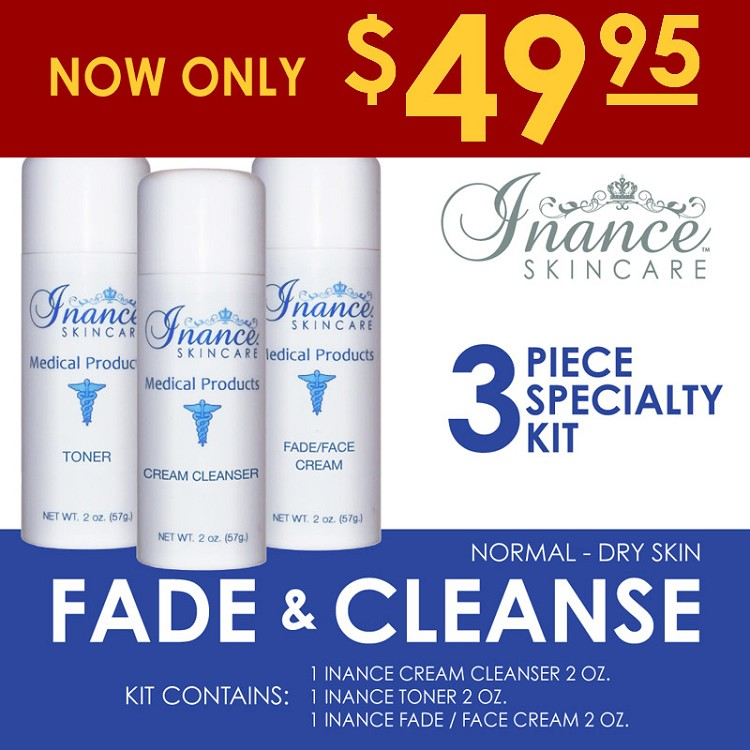 Inance Fade and Cleanse Specialty Kit (Normal to Dry) Kit #2  (3 pc kit) MSRP 145.00