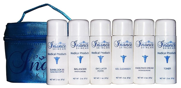 Inance Travel Kit for Normal to Oily Skin 2% HQ (Compare to Obagi Nu-Derm Travel kit)