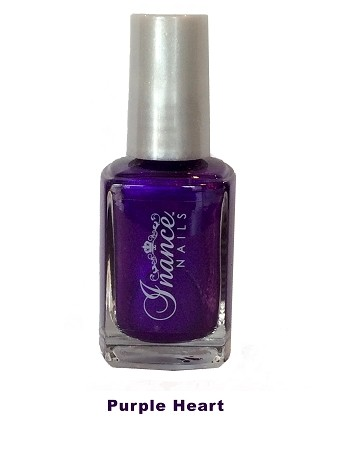 Inance Skincare Dynamic Chip Resistant Long Lasting Nail Polish, 5 Free of Chemicals, Purple Heart