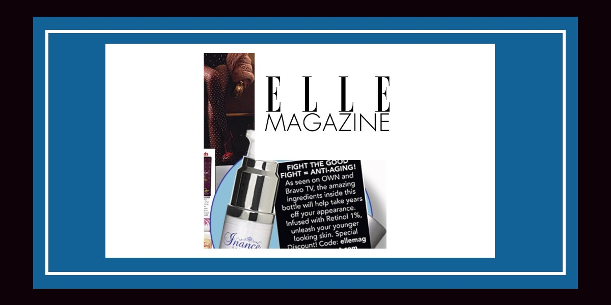 Inance Skincare in Elle Magazine