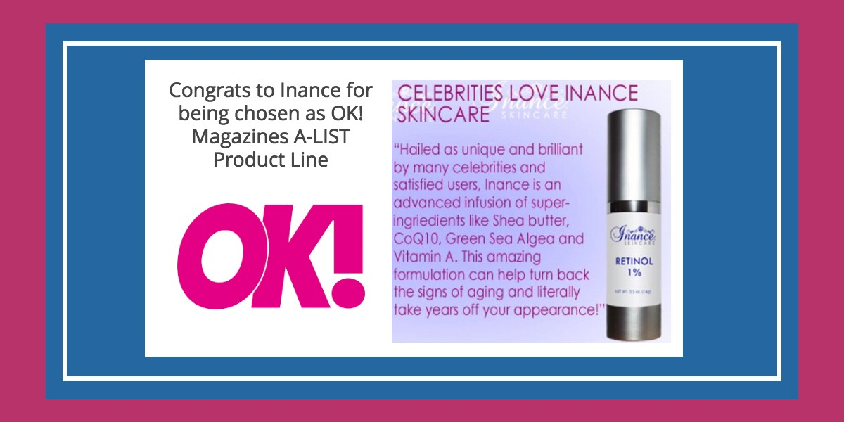 Inance is Chosen as OK! Magazines A-LIST