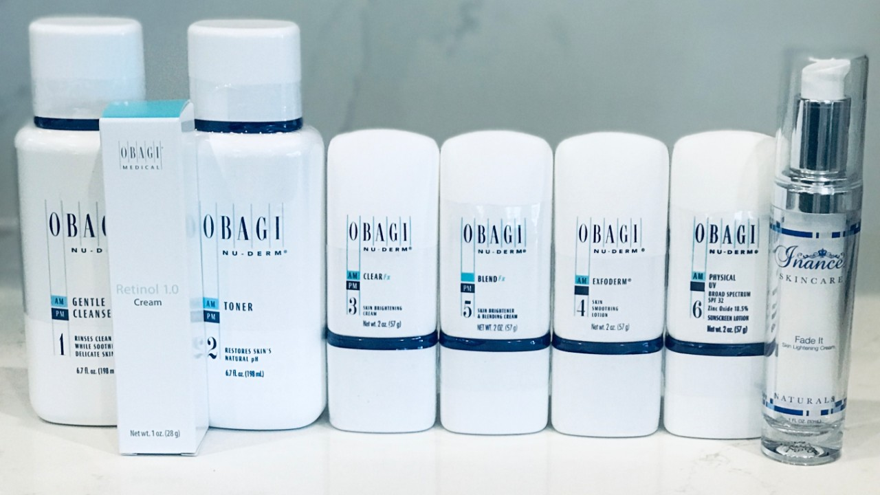 How To Use the Obagi Nu Derm System with Inance Fade Cream and Retinol