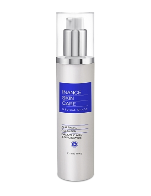 Inance Skin Care AHA Cleanser with Salicylic Acid and Niacinamide