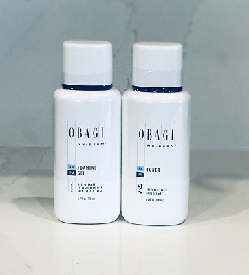 Obagi Nu Derm Foaming Gel Cleanser and Toner Kit (Normal to Oily Skin)